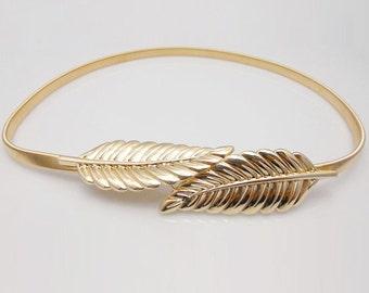 Gold bridal belt, Silver bridal sash, Gold leaf belt,  Silver leaf belt, gold bridal sash, style 62-3