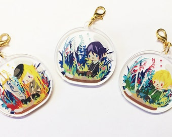Noragami Crystal Clear Acrylic Charm, Game Anime Cellphone Strap