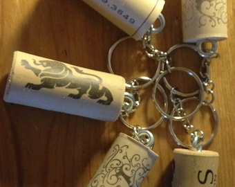 Synthetic Cork Key Chain, Set of 5