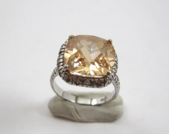 Vintage Sterling Silver Citrine Ring Size 7.25