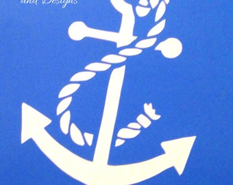 List 8 -  Anchor with rope stencils *Free gift with every order*