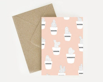 Card patterns/pattern pink cactus