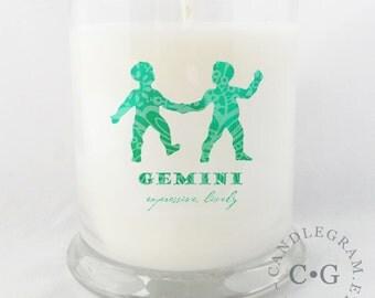 Soy Jar Candle by CandleGram 10oz...Zodiac, Astrological Sign, Gemini