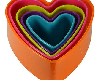 Multi Color Heart Cutter Set
