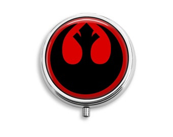 Rebel Alliance Symbol Star Wars Pill Box, Pill Case, Pill Container, Mints Container, Trinkets Box, Jewelry Box (P041)