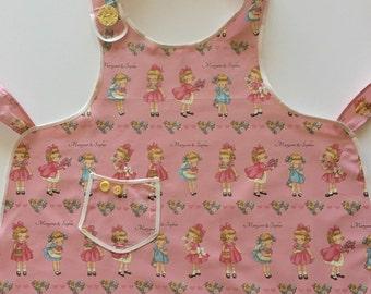 Childs apron, girls apron, vintage apron