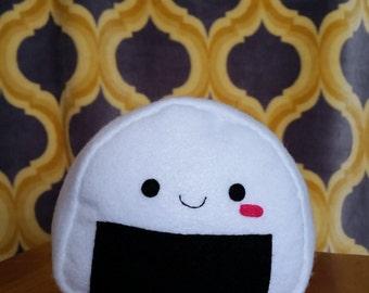 Handmade Plush Onigiri / Stuffed Animal Riceball Toy/ Cute Stuffed Onigiri Toy
