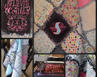 Personalized 60 x 60 Throw Quilt - Made to Order