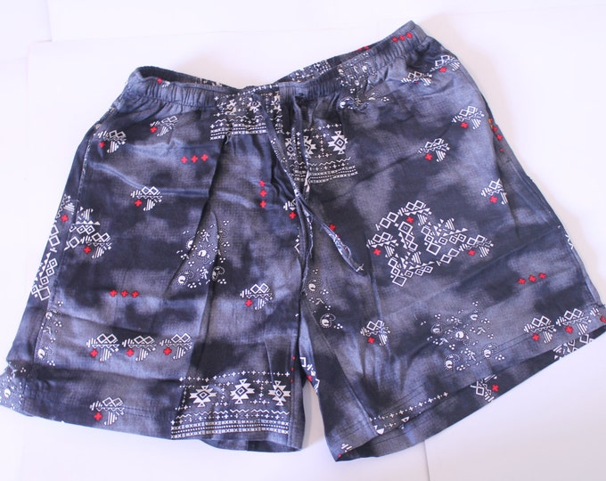 Khushi Shorts - Black Aztec
