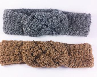 Crochet Headband, Ear warmers, Sailor Knot Headband, Gifts for her, Winter Headband, Knit Headband, Women Headband, Knitted Ear Warmers
