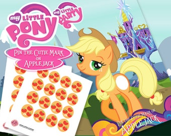 My Little Pony Theme: Pin the Cutie Mark on Applejack Party Game Digital File