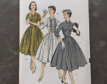 Vintage Sewing Pattern Advance 8057 Size 18, Bust 36, 1950's, 50's