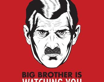 Big Brother Cross Stitch Pattern, 1984 Poster, 1984 Cross Stitch Pattern, Pdf Pattern, Instant Download