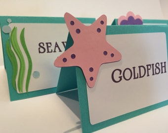 Under The Sea Mermaid Table Tents