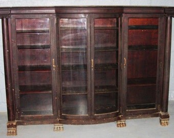 Antique Mahogany Bookcase Late Nineteenth Century Bookcase Victorian Style Bookcase