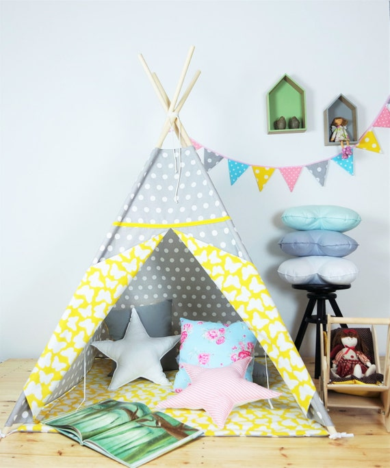 tipi pour enfants playtent tipi zelt wigwam enfants par. Black Bedroom Furniture Sets. Home Design Ideas