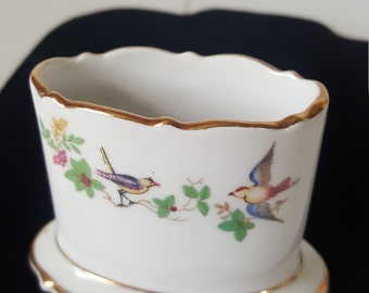 FREE SHIPPING! Antique German Royal Bayreuth Porcelain Match Holder-1940's