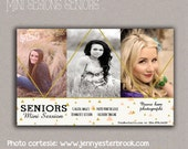 Template Senior Mini Session Flyer, Photographer Marketing Photoshop Template, Mini Session Flyer, Design