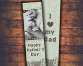 INSTANT DOWNLOAD -father's  day ,Bookmark photoshop template - Valentine's designs for photographers