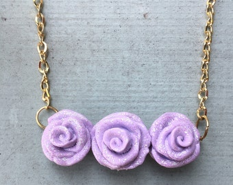 Lilac Rose Necklace