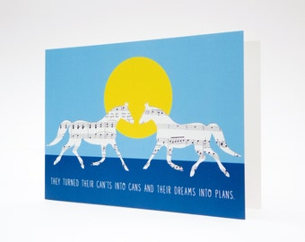 Inspirational Card, Horse Card, Blank Greetings Card, Birthday Card, Positive Quote Card, Thank You Card, Anniversary Card, Valentines Card