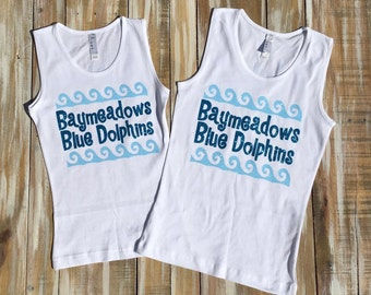 Custom Swim Team Swimming Glitter Tanks and Shirts