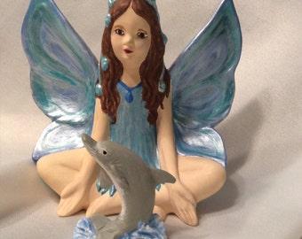 Hand Painted Ceramic Bisque Fairy