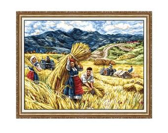Gobelin kit Haymaking 1:1 Petit point