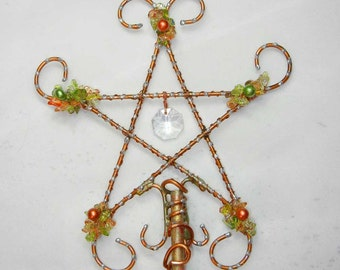 Magic Wand or Fairy Wand in Yellows, Oranges and Green