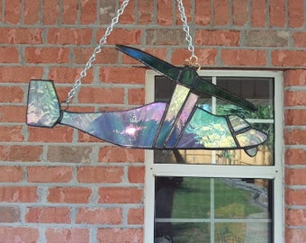 V-22 Osprey, Military Helicopter, Stained Glass Suncatcher for Father's Day or Military Retirement