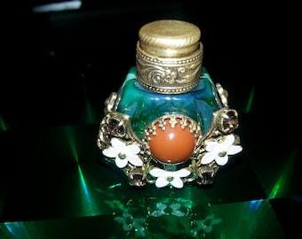Vintage Bohemia Glass Perfume Bottle