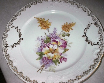 Beautiful Old Floral C.T. Plate