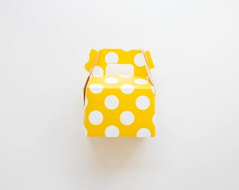 Yellow Polka Dot Mini Gable Boxes