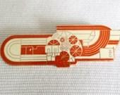 Eduardo Paolozzi - Vintage Modernist Art Enamel Brooch / Badge for the Royal Academy of Arts