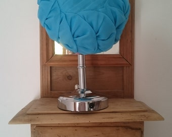 Light blue pillbox style hat