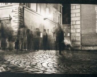 "Platinum Palladium Print ""Night walk, Rome"""
