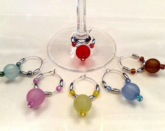 Coordinated Festive Wine Glass Charms