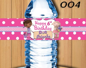 Doc McStuffins Bottle Labels, Doc McStuffins Bottle Labels - Doc McStuffins Birthday Party - Doc McStuffins .Doc McStuffins Water Label #004