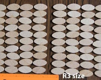 LOT of 100 R3 or R2 or R1 Mini Wafer Shape Wood Biscuits #R3 #R2 #R1 biscuit for Ryobi DBJ50K joiner