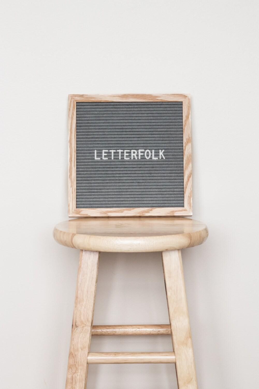 10x10 letter board w 290 characters grey felt by letterfolk With letter board 10x10