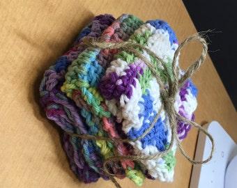 Set of 3 Handmade Washcloths