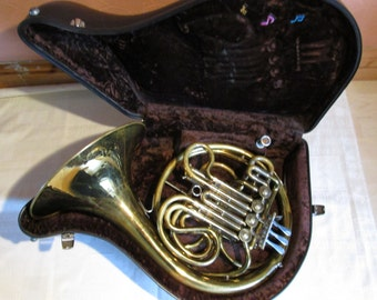 Josef Lidl Double French Horn with case