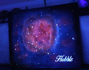 "Blacklight ""Hubble"" Painting - 16x20"