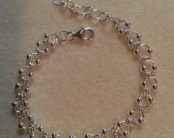 Beautiful sterling silver chain mail bracelet