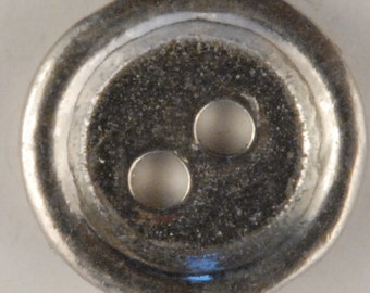 BU-151 2 Hole Rimmed Pewter Button