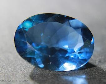 Colour-change Fluorite, faceted.  Brazil.  14.11 carats.