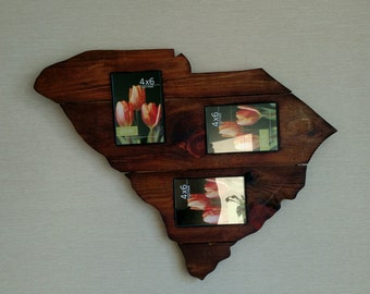 Reclaimed Wood South Carolina Picture Frame