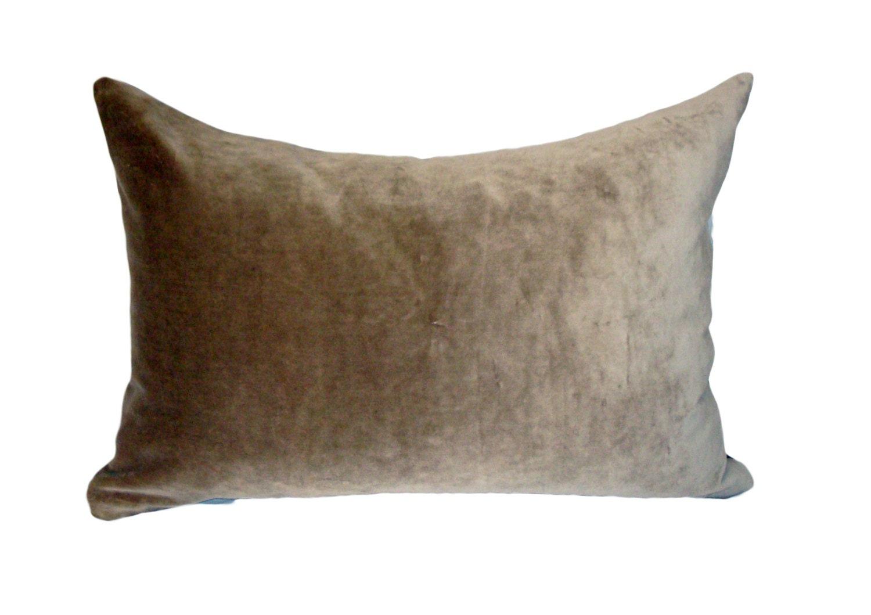 Velvet Decorative Pillow Covers : decorative velvet pillow cover accent pillow covers tan gray