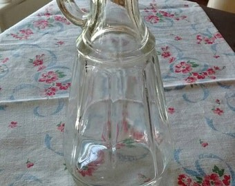 Vintage-ribbed-clear-glass-cruet