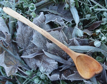 Handmade juniper wood spoon made from juniper root